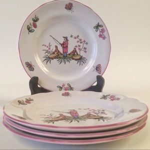 Spode bread and butter plates.